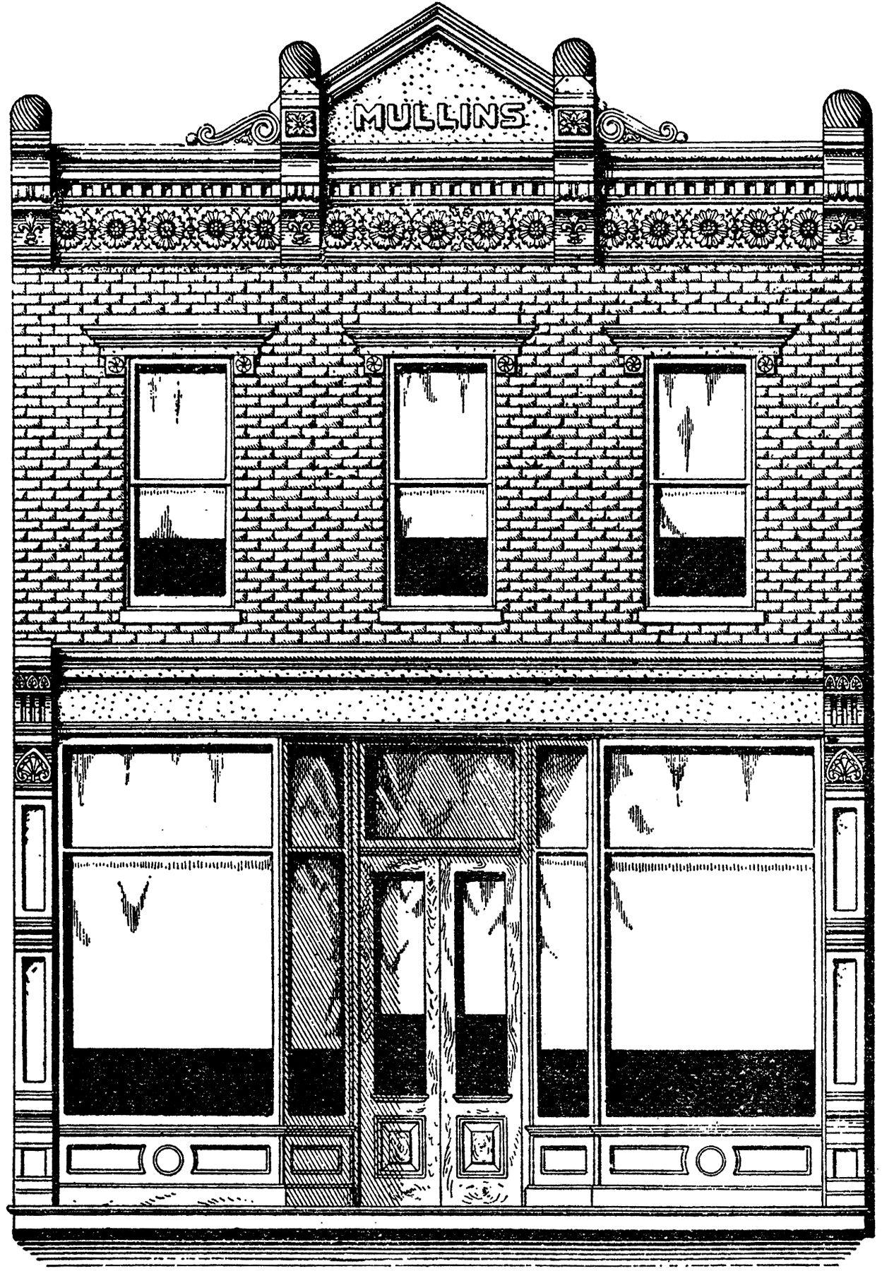 Brick Store Image Front Vintage NostalgicDessin 8wPn0Ok