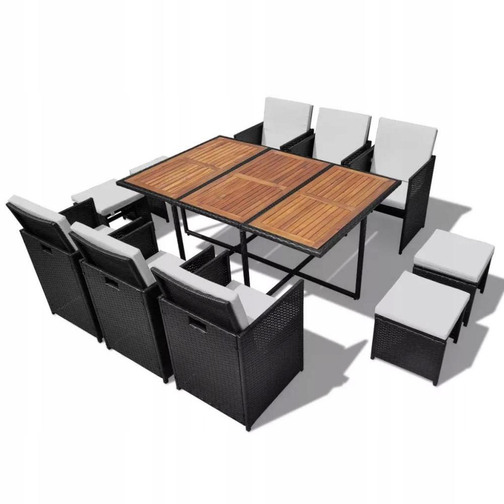 11 Cz Zestaw Mebli Ogrodowych Rattan Pe I Akacja 8623238709 Oficjalne Archiwum Allegro Top Outdoor Furniture Outdoor Dining Set Rattan Garden Furniture Sets