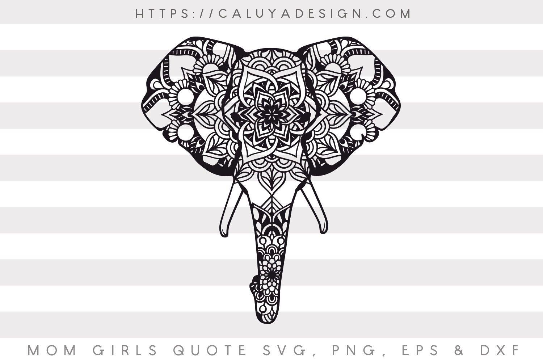 Free Elephant Mandala SVG, PNG, EPS & DXF by | Free SVG