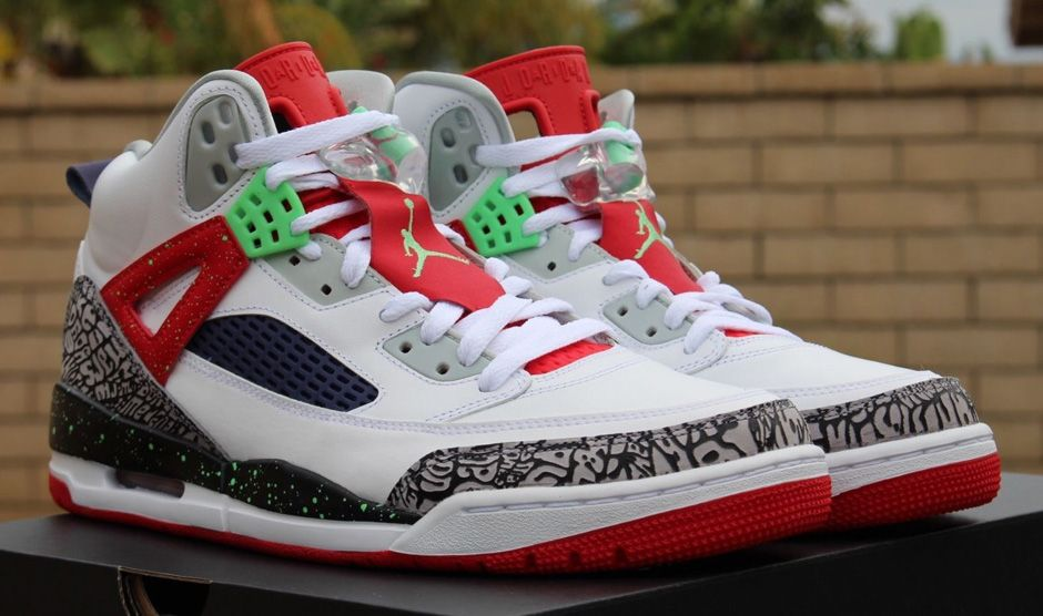 """new style fd1e3 73c91 This Spizike isn t explicitly a """"Hare Jordan"""" release but the ample red and  light green – both hallmarks of the Hare Jordan 7 – seem to suggest some  kind of ..."""