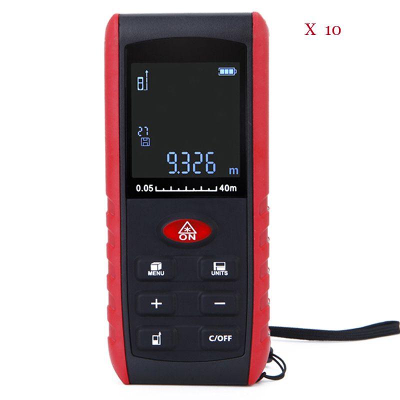 10 Pieces Digital 40m Laser Rangefinder High Precision Handheld Range Finder Area Volume Measurement With Retail Box With Images Rangefinder
