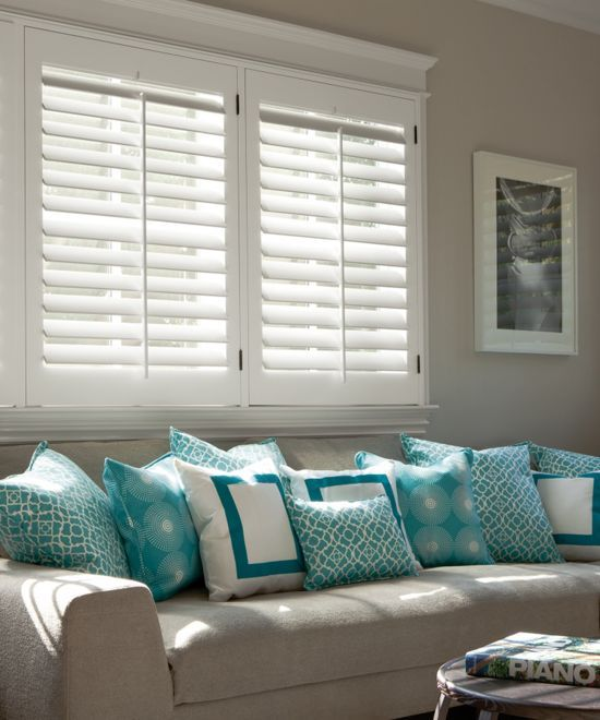 2 1 2 Louver Wood Shutters Interior Shutters Window Treatments