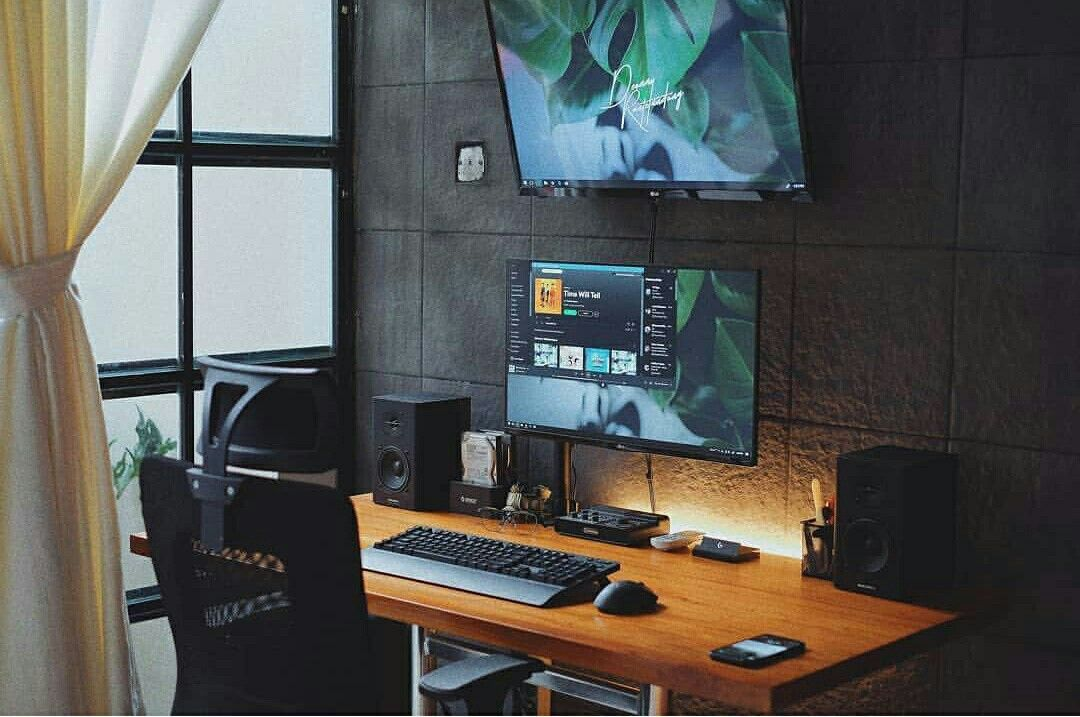 Modern Computer Desk Setup