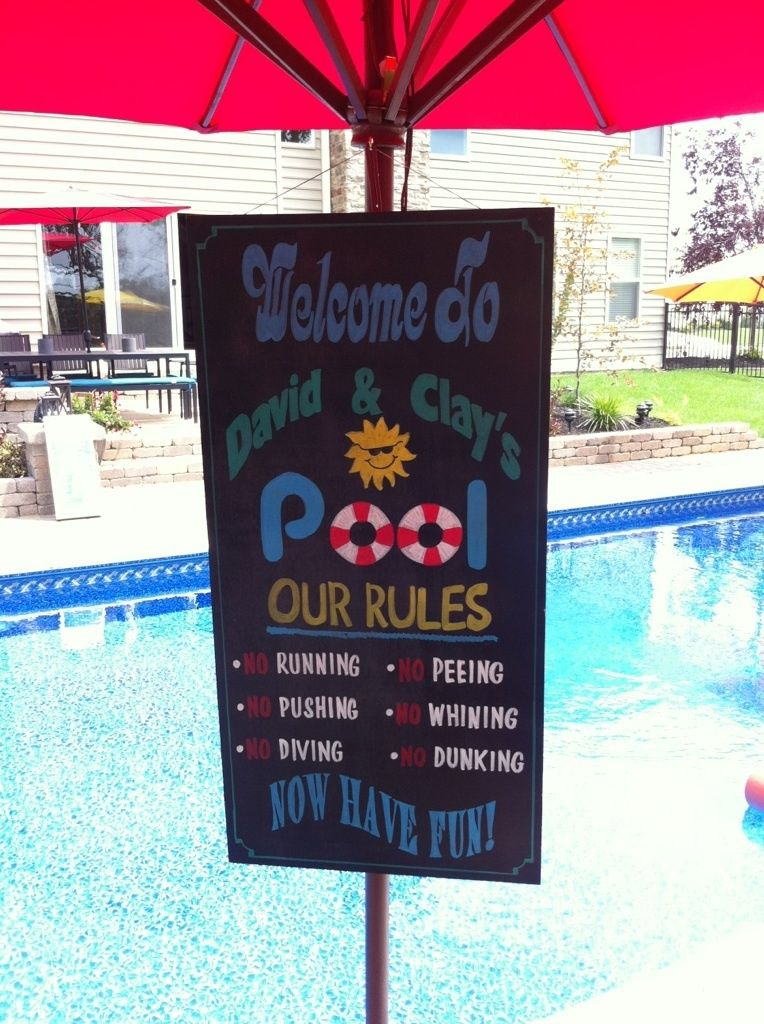 Details About Hand Painted Custom Pool Rules Personalized