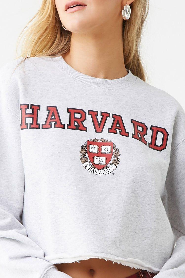 Harvard Graphic Cropped Sweatshirt | Forever 21