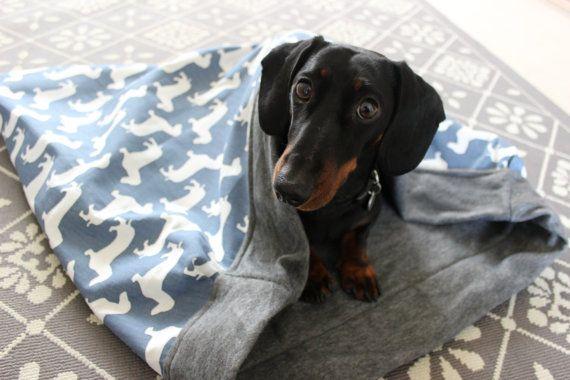 Dachshund Cotton Snuggle Sack Dog Bed Dog Blanket Dog Blanket Dachshund Dog Bed