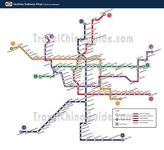 Suzhou subway planning map Suzhou Jiangsu Maggies 22 Chinese
