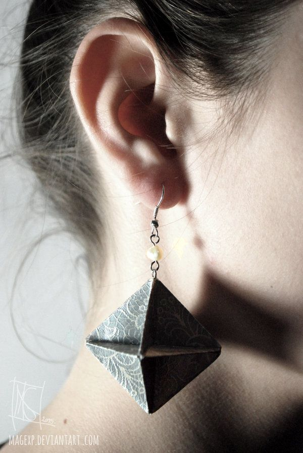 Photo of Romantic Teal Earrings :MADE TO ORDER: by MaGeXP on DeviantArt