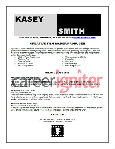 Production Editor Resume Film Producer Resume Sample  Film Production Stuff  Pinterest .