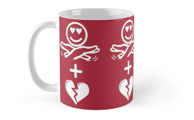 Emoji Coffee Cup And A Broken Heart