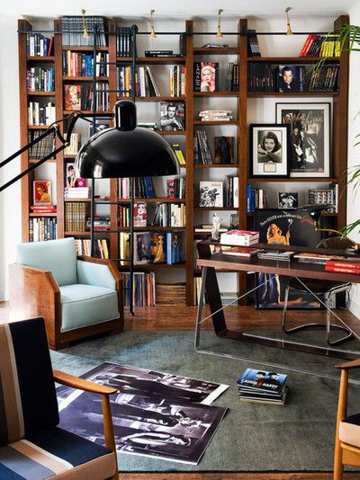 28 Dreamy Home Offices With Libraries For Creative Inspiration: Bookshelves. Via The Imaginary World Of Miss Christine