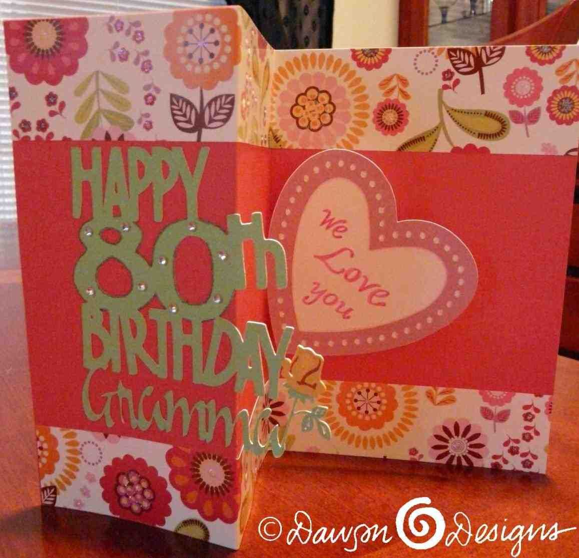 Colleen Spenser 80th Birthday Happy Card Mum Handmade