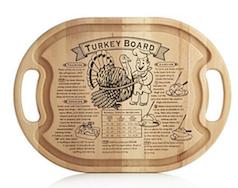 Turkey wood cutting board