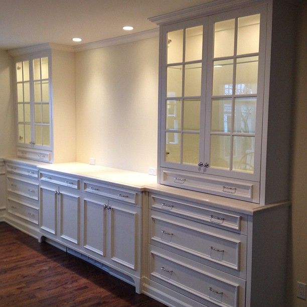 Built In Buffet Dining Room: Kitchen Cabinets At Sink. With Seed Glass. For Dining Room