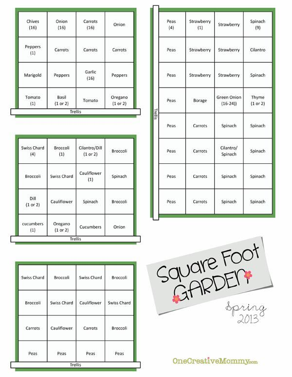 Square Foot Garden Plans for Spring – Planning A Square Foot Garden