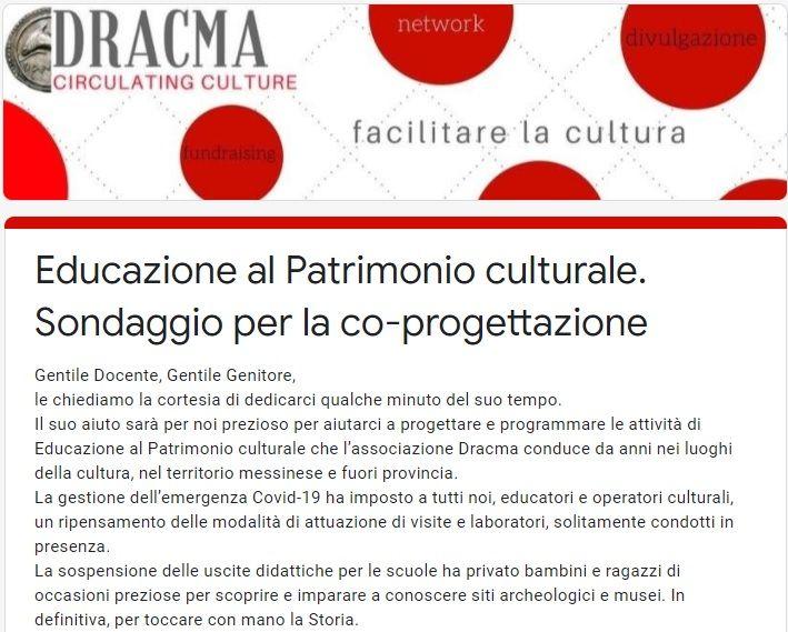 Educazione al Patrimonio culturale. Sondaggio