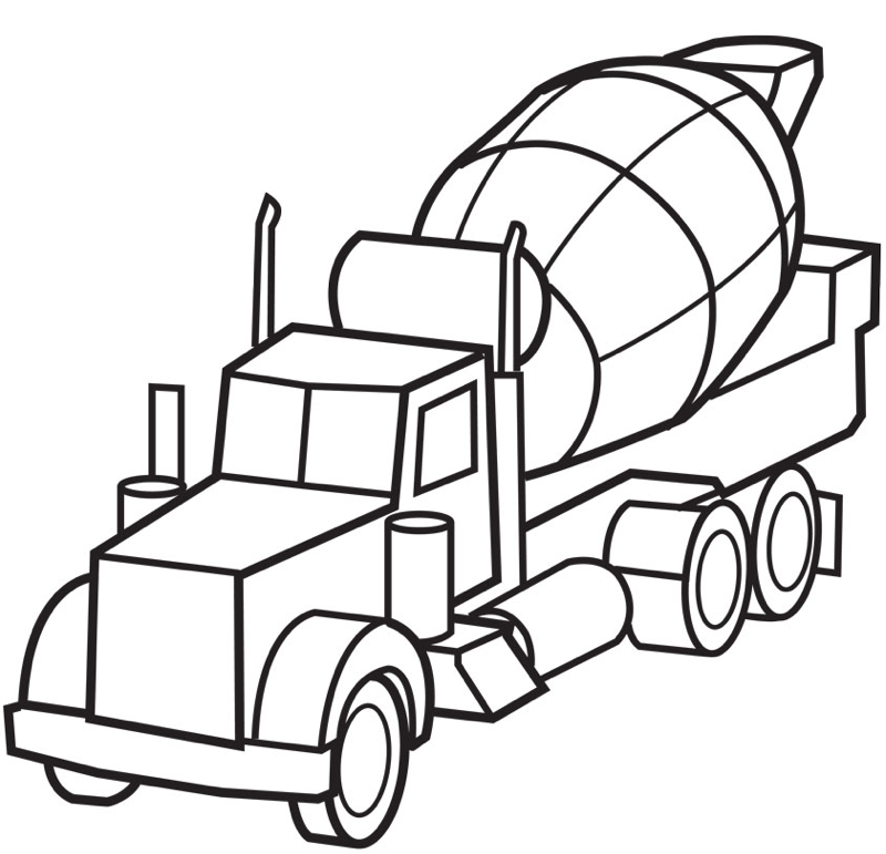 Print Coloring Page And Book Cement Truck For Kids Of All Ages Updated On Wednesday November 11th 2015