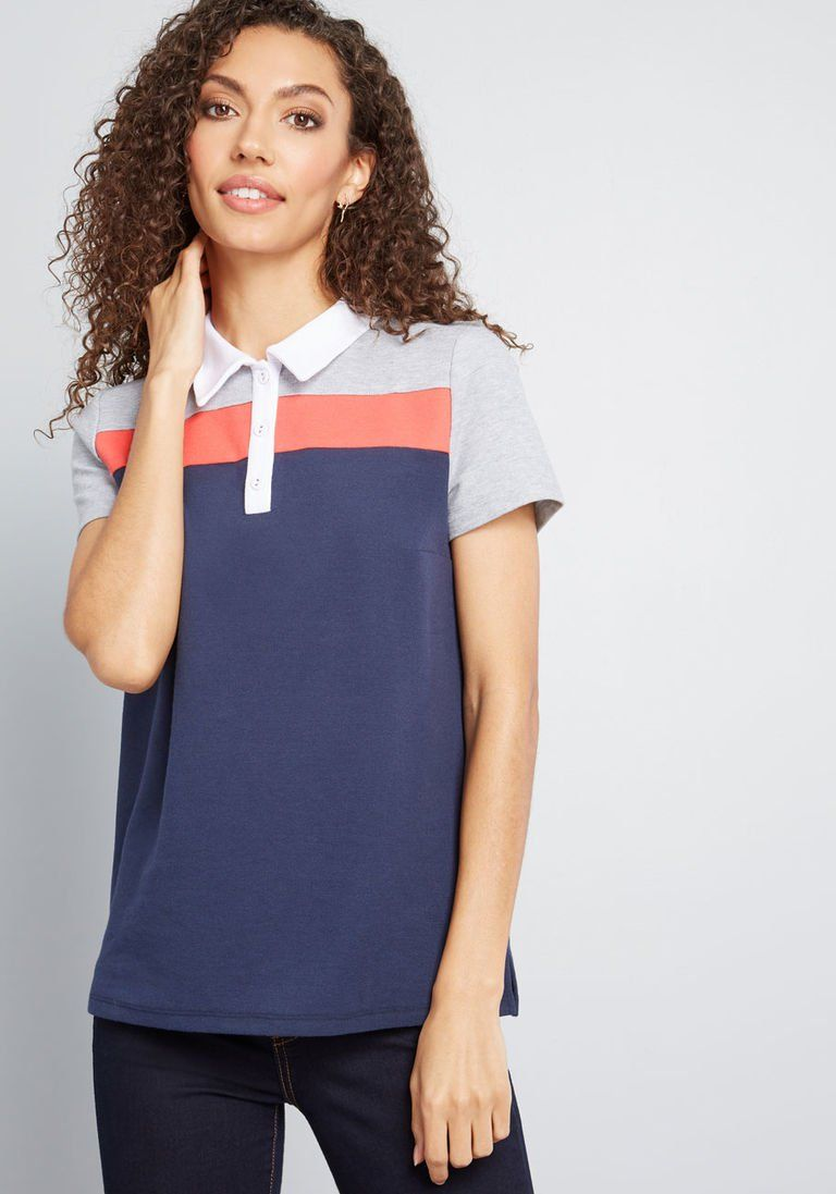 bc1f73fec37 Welcome the Weekend Polo Top in XXS - Short Sleeves Mid-length by ModCloth
