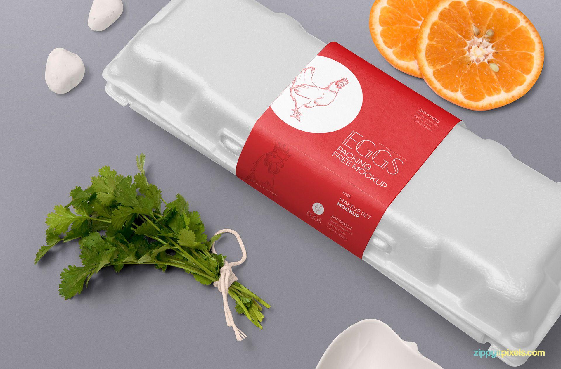 Download Free Egg Crate Mockup Zippypixels Egg Crates Egg Packaging Design Template