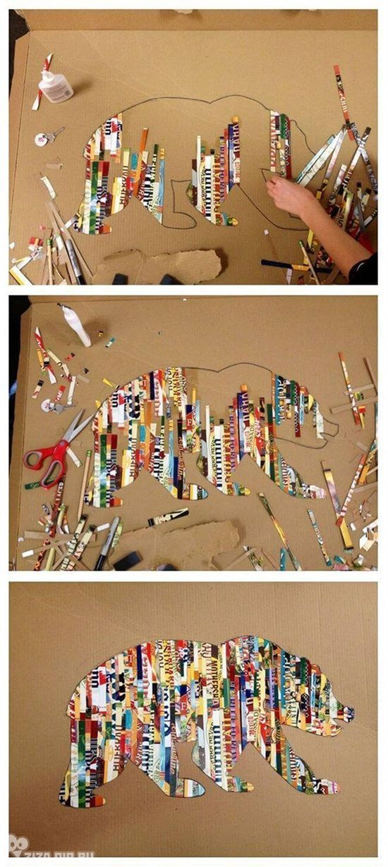 Photo of Amazing silhouette art with colorful magazine strips! – Upcycling ideas
