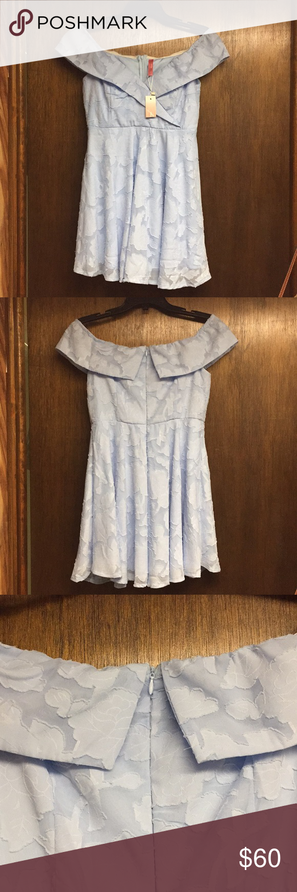 Baby blue floral dress nwt blue floral dresses wedding guest