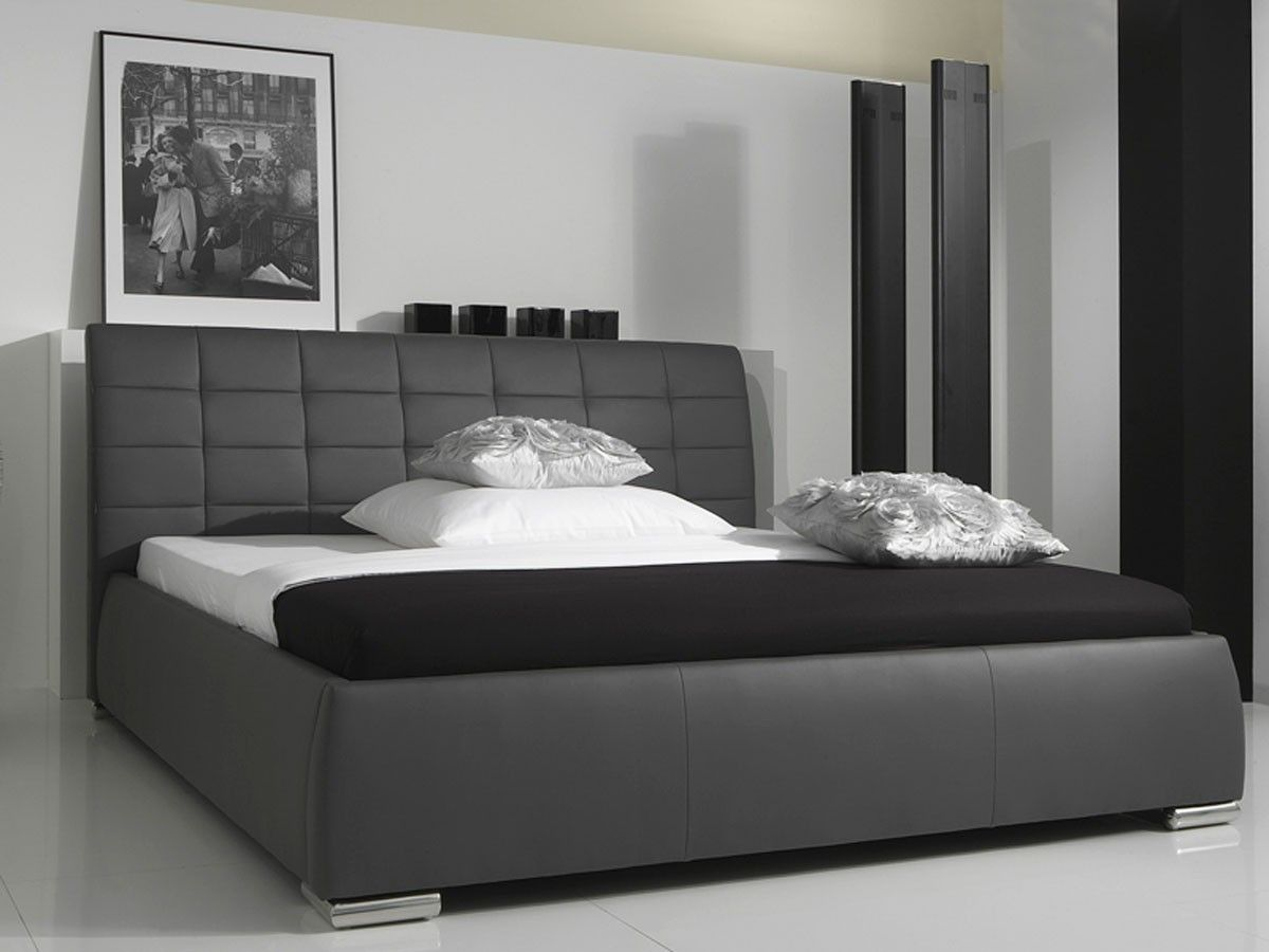 tete lit 160x200. Black Bedroom Furniture Sets. Home Design Ideas