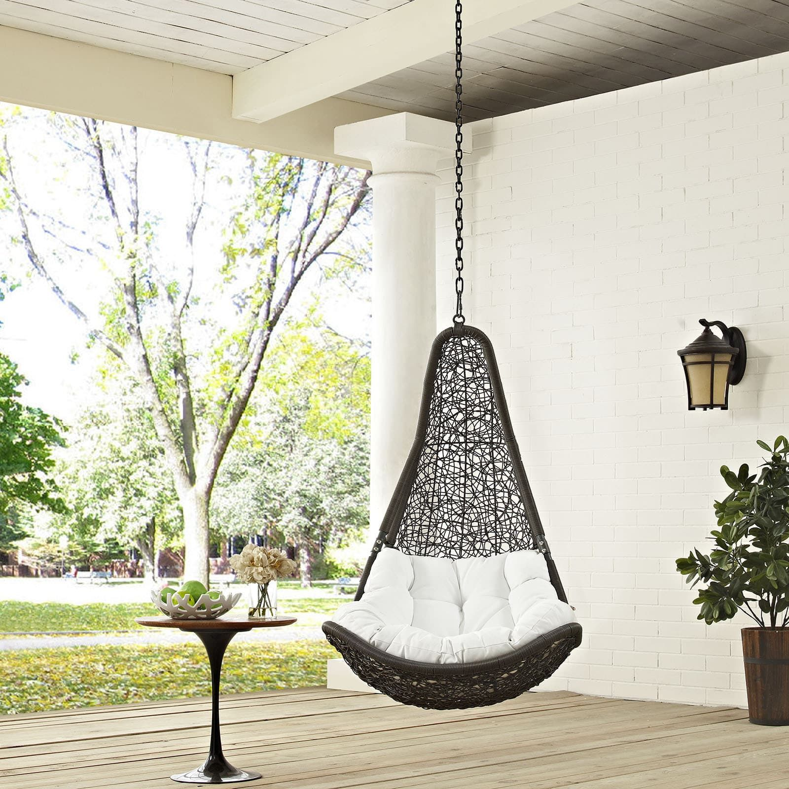 abate outdoor patio swing chair overstock com shopping the best