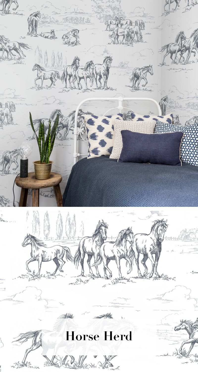 horse herd tapetenkollektion palette pinterest. Black Bedroom Furniture Sets. Home Design Ideas