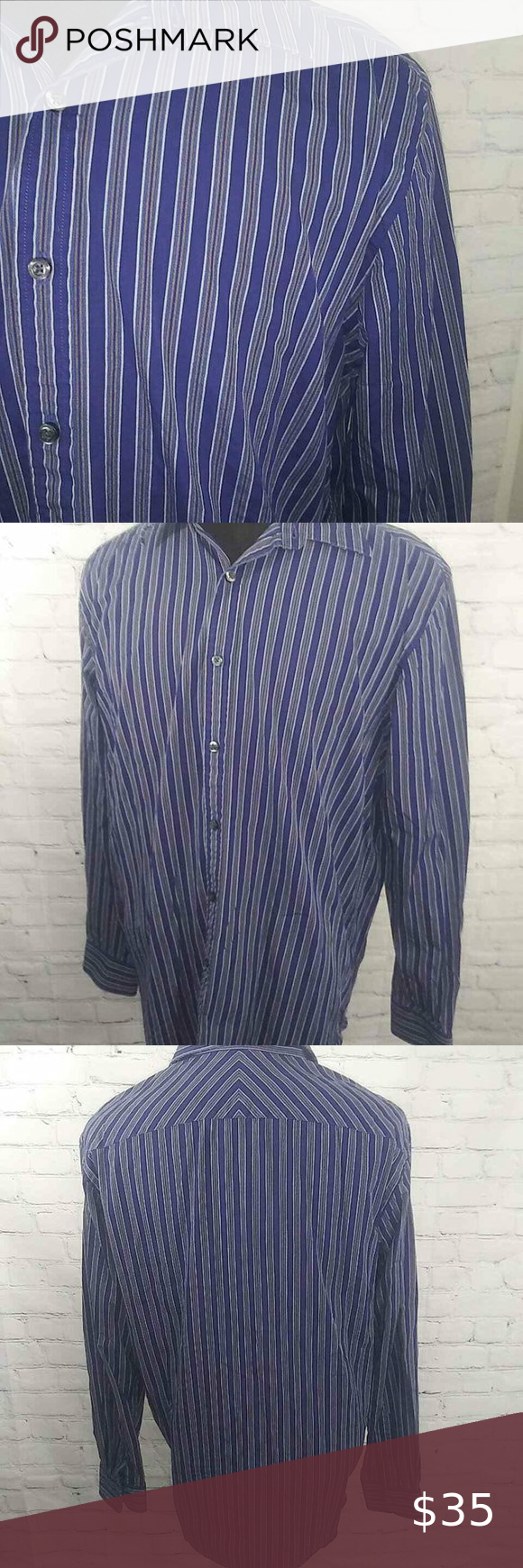 Austin Reed London Shirt Sz L Striped Cotton L S London Shirts Austin Reed Colorful Shirts