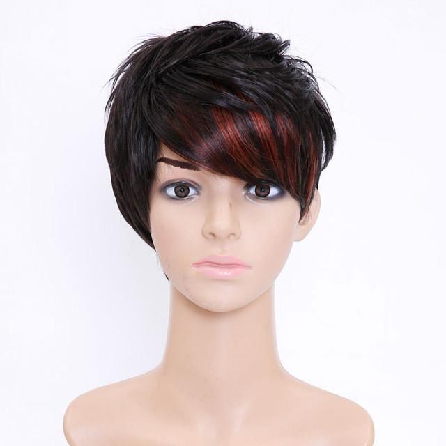 Shangke Hair Short Synthetic Wigs For Black Women Highlight Womens