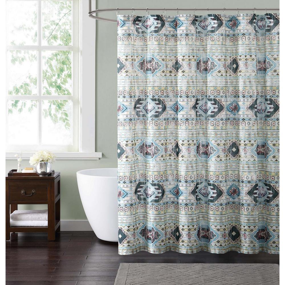 Style 212 Simone Tribal 72 In Neutral Shower Curtain Neutral