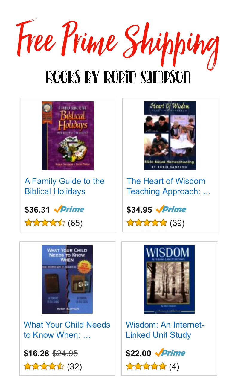 Homeschool Books And Messianic Bible Stu S By Robin Sampson