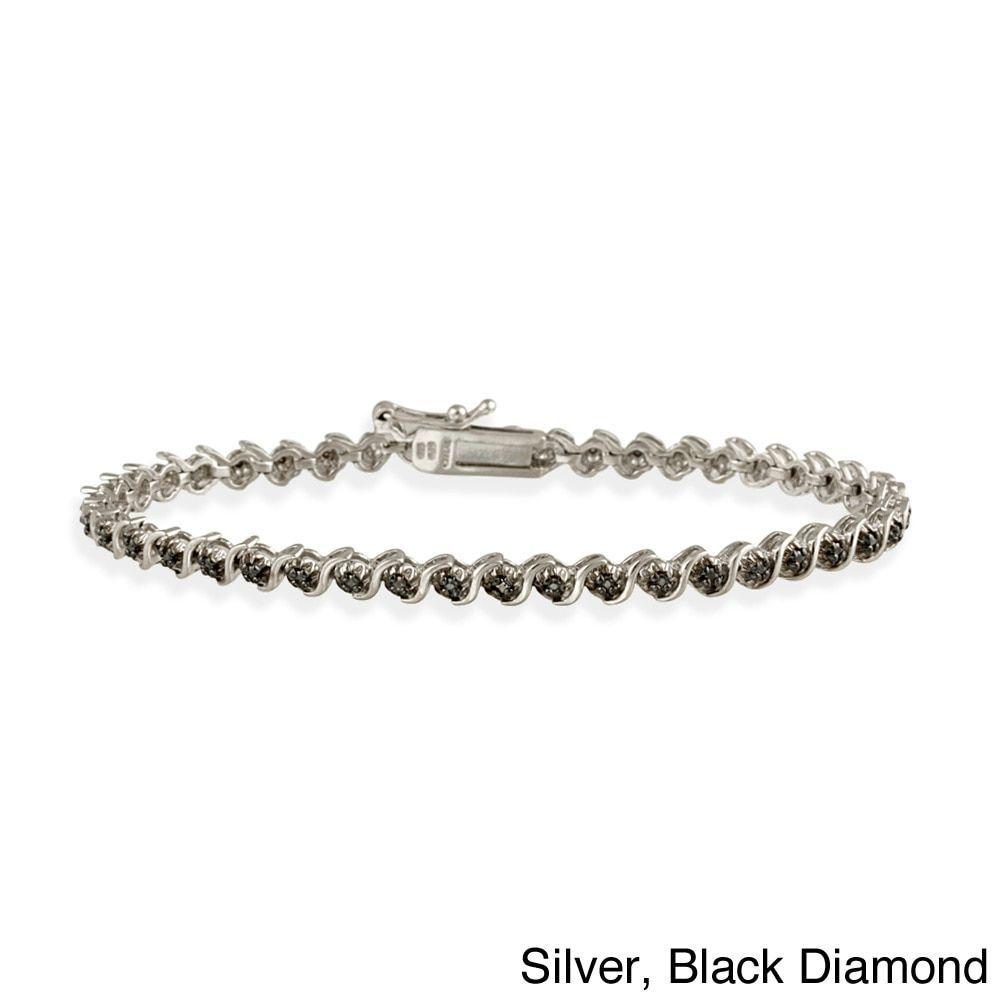 Db Designs Black Or Champagne Diamond Tennis Bracelet