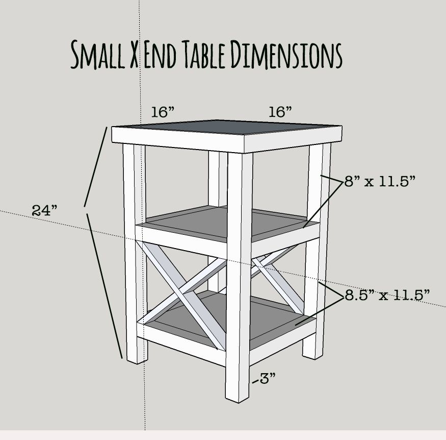Makeover Monday Small X End Table Free Plans Furniture Diy