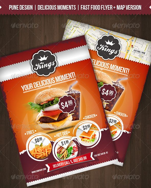Delicious Moments Fast Food Flyer Template FLYER Restaurant
