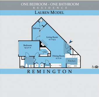 Looking for a one bedroom apartment home in Loudoun, VA? Walk to shopping and dining at Dulles Town Center from your home! This floor plan features a full size washer and dryer, abundant storage space with a walk in closet, and a balcony.   Schedule your tour today to view this spacious floor plan with 860 square feet.  #LiveLerner #Loudoun #Apartment #Home