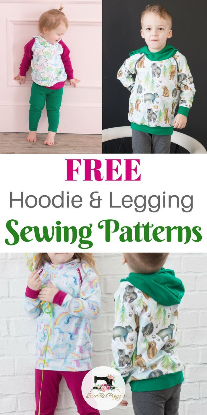 Free Kids Leggings and Hoodie PDF Sewing Patterns