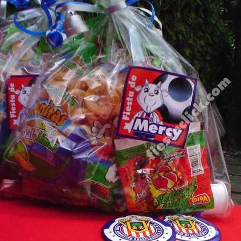 Sticker de las chivas para decorar las bolsas de dulces y botones de las Chivas