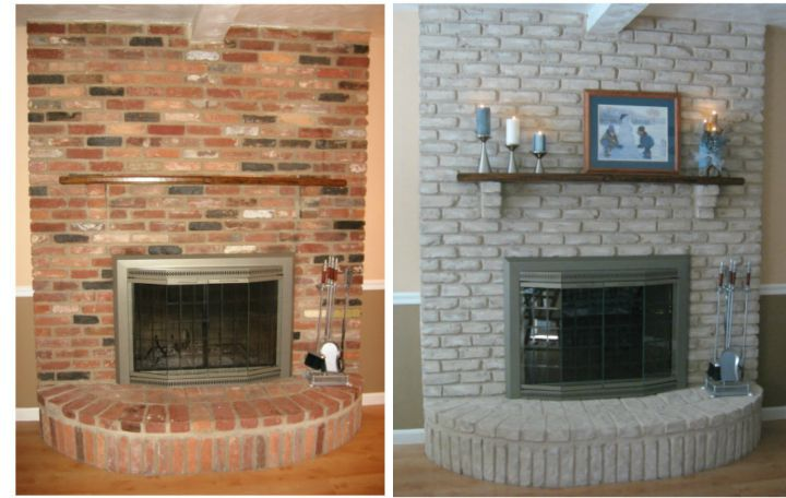 How To Redo A Brick Fireplace Brick Fireplace Makeover