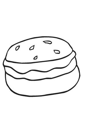Ausmalbild Hamburger Ausmalen Ausdrucken Ausmalbild