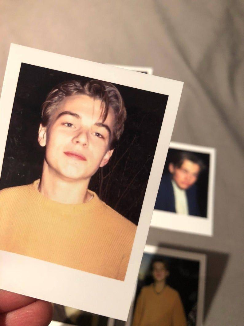 Leonardo Dicaprio Polaroids mini vintage style set of 10 - young Leo