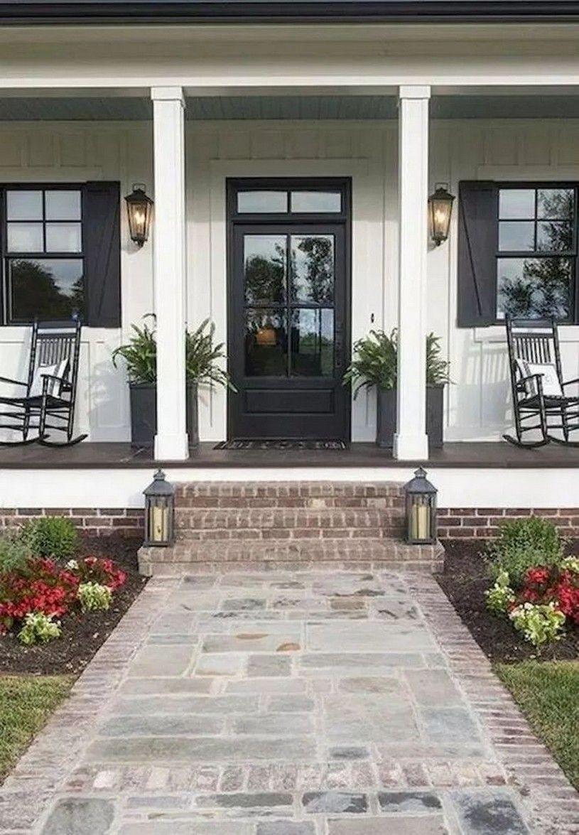 40 Wonderful And Charming Farmhouse Style Porch Decorating Ideas 49 In 2020 Porch Design House Exterior Farmhouse Exterior