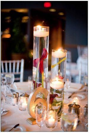 decoración Centros de mesas Pinterest Velas, Decoración y Boda - centros de mesa para boda con velas flotantes
