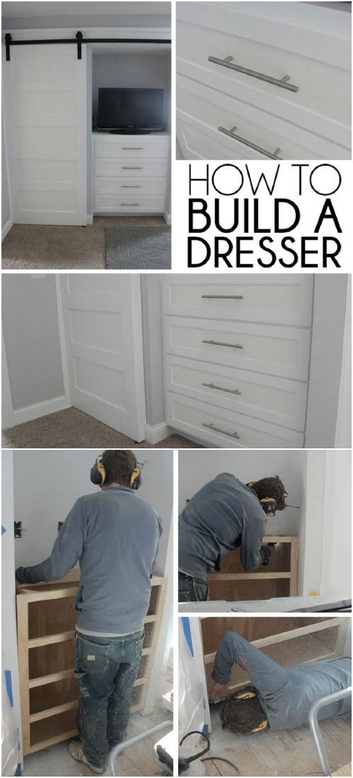 7 Wonderful DIY Built In Dresser Projects To Totally Transform Your Room!