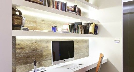 narrow office design google search - Small Home Office Design Ideas