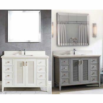 Studio Bathe \u2013 Meuble-lavabo Aurora de 48 po avec miroir Parc