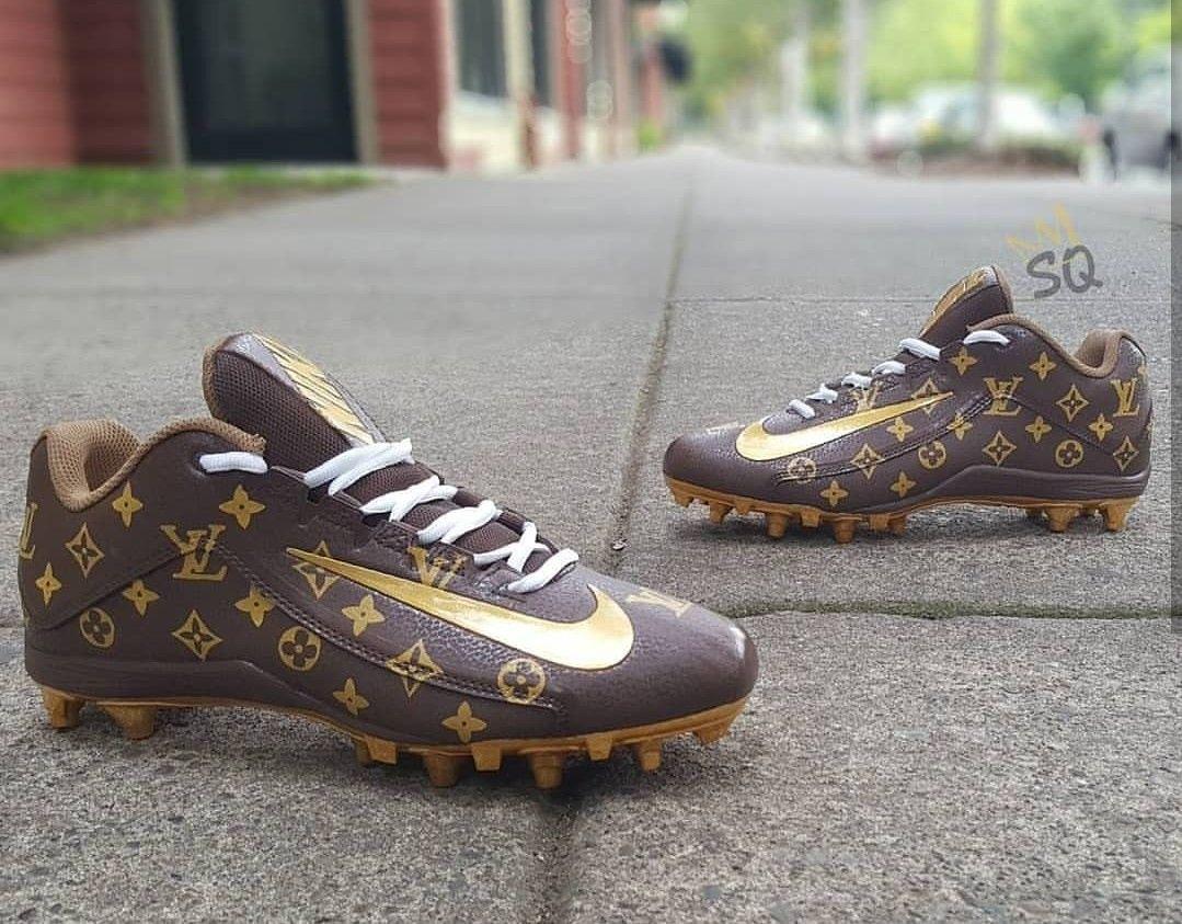 Custom football cleats, Louis vuitton