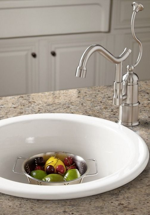 Risinger Fireclay Drop In Undermount Prep Sink Black The Signature Kitchen Prep Sink Sink Und Round Sink