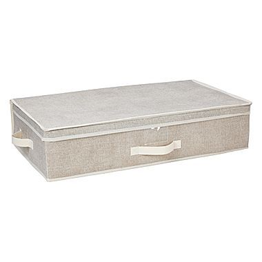 Walmart Under Bed Storage Glamorous Simplify Non Woven Underbed Storage Box Faux Jute  Jessica