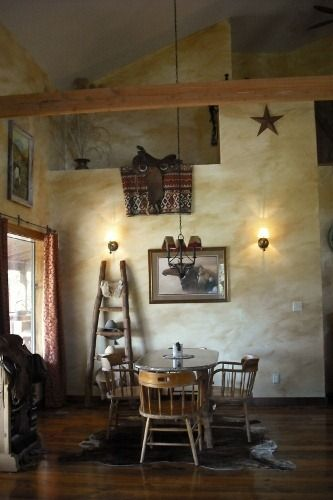 Rustic Western Wall Color Ideas Saddles Home Decorating